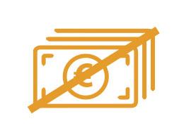 Ilustración de billetes de euros con una línea por encima cubriendo los billetes