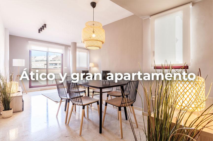 Ático y gran apartamento amueblado de temporada