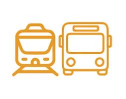 Transporte público cerca del alquiler de temporada